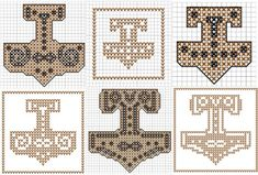 Thor's Hammer knit/crochet & cross stitch PDF patterns