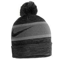 Nike KD 8 Knit Pom Beanie Mens 778240-010 Black Grey Durant Acrylic Hat