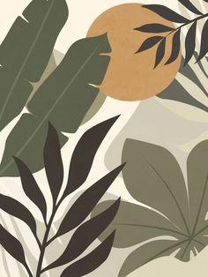Minimalist Wallpaper, Minimalist Painting, Minimalist Art, Aesthetic Painting, Plant Art, Mural Art, Watercolor Art, Graffiti, Art Prints