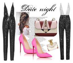 """Date night"" by tamara-sucha ❤ liked on Polyvore featuring Valentino, Naeem Khan, Christian Louboutin and Bulgari"