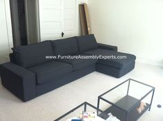 ikea kivik sofa bed  assembled in fort washington MD by Furniture Assembly Experts LLC