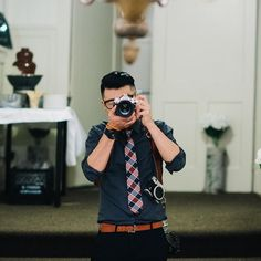 great vancouver wedding Rule number one, only carry tree cameras during the wedding. Rule number two, find a mirror for a selfie!  x 3 #holdfastgear by @iamjohnyoo  #vancouverwedding #vancouverwedding