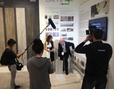 More microphones in the Italian Pavilion: this time, it's Brian Renner from @Florim Ceramiche explaining the new Slim/4+ system