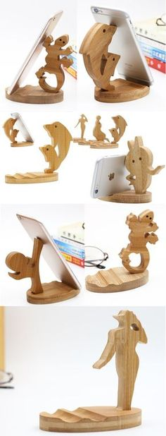 Desk Phone Holder - Cute Wooden Animal iPhone Cell Phone Stand Mount Holder Business Card Display Cute Wooden Animal iPhone Cell Phone Stand Mount Holder Business Card Display Stand Holder Office Desk Organizer for iPhone 77 Plus and other smartphones Desk Phone Holder, Iphone Holder, Iphone Stand, Cell Phone Stand, Iphone Phone, Wood Shop Projects, Small Wood Projects, Business Card Displays, Bois Diy
