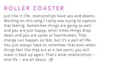 https://www.youtube.com/watch?v=32QYY0x1SoQ - Justin Bieber - Roller Coaster