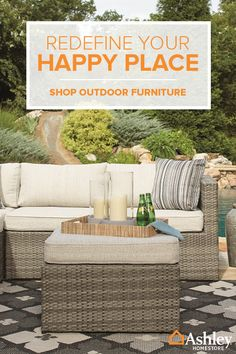 Get that backyard space ready for summer with outdoor furniture and accessories from Ashley HomeStore. From comfortable outdoor sectionals to fire pits, hammocks and more�you�ll find everything you need to transform that outdoor space into an entertaining paradise. Shop the collection.