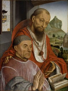 A Donor-Canon with Saint Jerome, ca. 1475-1480 (attributed to Simon Marmion) (ca. 1425-1489) Location TDB