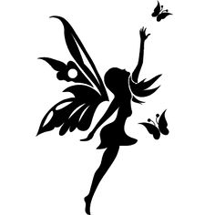 like symbol png al_copyrighter. Fairy Silhouette, Silhouette Tattoos, Body Art Tattoos, Tattoo Drawings, Sleeve Tattoos, Elfen Tattoo, Wm Logo, Fairy Stencil, Images Noêl Vintages