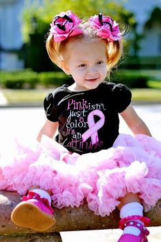 Pink isnt just a color its an Attitude Embroidery Shirt $25 Baby Girl Onsies, Shirt Embroidery, Breast Cancer Awareness, Tutu, Attitude, Kids Outfits, Kids Fashion, Flower Girl Dresses, Trending Outfits