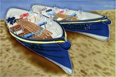 Beached Pilot Gigs Hand painted ceramic picture tile