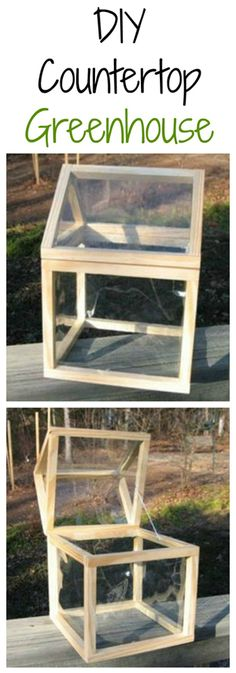 Diy Countertop Greenhouse Tutorial This Green House Is A Great Gift Idea And Mini Greenhousesimple Greenhouseindoor