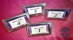 Marcos de latón para enumerar tus mesas o para regalar a tus invitados \ beautiful table number frames for your wedding