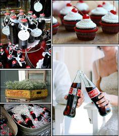 coca cola wedding toast | Het coca-cola thema is leuk te combineren met rode papieren rietjes ...