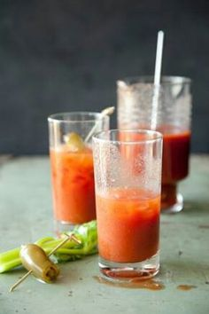Texas Pete® Bloody Mary  Ingredients: 3 cups tomato juice 3/4 cup vodka 2 tablespoons freshly squeezed lime juice 1 1/2 teaspoons Texas Pete® hot sauce 1 1/2 teaspoons Worcestershire sauce 1/2 teaspoon onion salt 1/2 teaspoon celery seeds 4 green onions and/or green olives  Instructions:  In a pitcher, mix together all the ingredients except the green onions. Pour into tall glasses over ice. Garnish with the green onions.