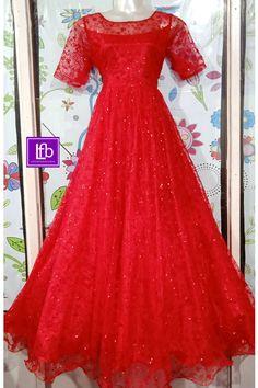 Net Dress Design, Long Gown Design, Girls Frock Design, Frocks And Gowns, Net Gowns, Long Gown Pattern, Long Gown Dress, Long Gowns, Long Frocks For Girls