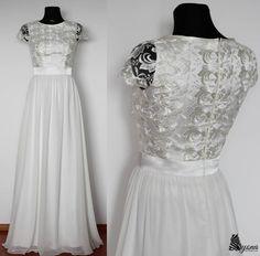 Šaty - Spoločenské šaty s krajkovým vrškom a rukávikom - 5352284_