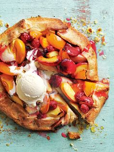 summer stone fruit tart