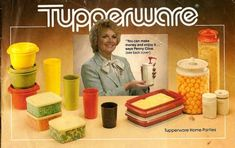 Groovy. I LOVE the old tupperware! Colors are awesome!
