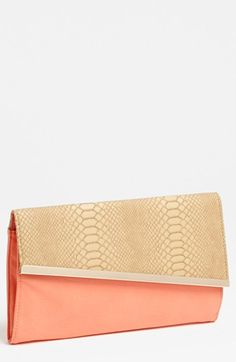 Expressions NYC Snake Embossed Faux Leather Clutch available at #Nordstrom