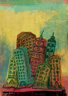 30 / Jorge Vildoza / Ciudades / from: La vuelta al mes en 30 ilustradores