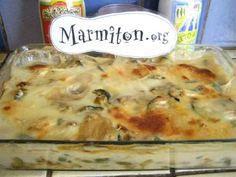 Délice léger de courgettes et champignons en gratin : Recette de Délice léger de courgettes et champignons en gratin - Marmiton