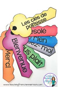 Les clés de politesse - Teaching French Immersion: Ideas for the Primary Classroom French Lessons, Spanish Lessons, Teach Yourself French, French Classroom Decor, Teaching French Immersion, French Flashcards, Teaching Manners, Teaching Reading, Teaching Aids
