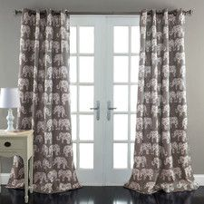 Elephant Parade Window Curtain Panel (Set of 2)