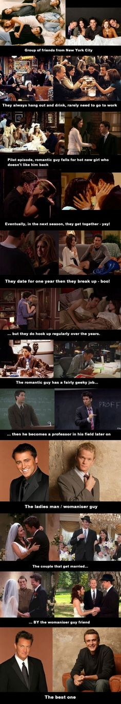 similarities between friends and himym - #friends #himym