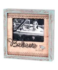 Take a look at this Pink Believe Bird Picture Frame by Wilco on #zulily today!