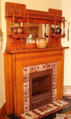 victorian era fireplace mantels | victorian style vent fireplace ...