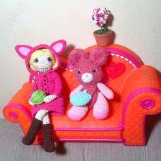 Hello, good morning from Sidoarjo, East Java Indonesia #amigurumi #amigurumidoll #lalaloopsy #coach #rabbit #crochetdoll #crochet #amigurumist #doll #toys #girly #Padgram