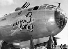 Jet & Prop by FalkeEins: Boeing B-29 Superfortress nose art from the Korean War