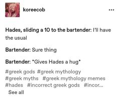 Percy Jackson Characters, Percy Jackson Fandom, Greek Mythology Humor, Hades And Persephone, Rick Riordan Books, Uncle Rick, Greeks, Greek Gods, Magick