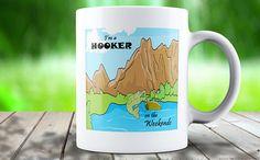 im a hooker on the weekends fishing mug fishing funny