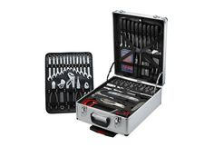 Collecting a complete set of tools can take years – unless you cover every base at once with this 124 Piece Vanadium Tool Set. This complete tool set is well organized in a portable and sturdy case with wheels. Not only does this tool set prepare the handyman for just about every scenario, the tools are made from high quality Chrome Vanadium steel, which is a metal compound that's stronger and more rust resistant than carbon steel.