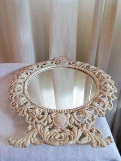 Shabby chic mirror romantic Farmhouse white vintage country