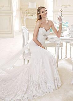 Una sposa ricercata dalla silhoutte disegnata e impreziosita dai particolari di Nicole Spose www.kappadisposi.it