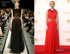 Claire Danes In Givenchy – 2014 Emmy Awards