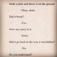 Great analogy on trust and what happens when it is broken!