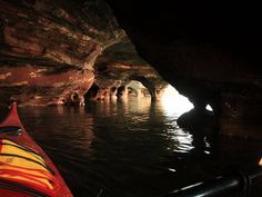 Kayak through the Apostle Islands, off the Wisconsin shore of Lake Superior. The group of 22 islands is riddled with caves, and during the winter visitors can see frozen waterfalls and icicle-filled chambers.