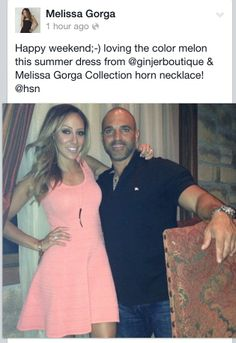 Melissa Gorga's Coral Fit & Flare Dress | Big Blonde Hair : Big Blonde Hair http://www.bigblondehair.com/real-housewives/rhonj/melissa-gorgas-coral-fit-flare-dress/ Melissa Gorga Fashion