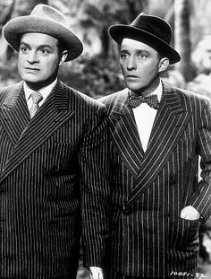 Bob Hope and Bing Crosby, circa 1945. One of the classic friendships, both on screen and off.