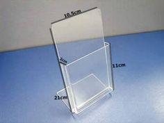 Porta Folheto/Folder- Kit com 10 peças - valor unit. R$12,00 - Para mesa e prisma - Display - Peças em Acrilico BH - Acril Sinalizações Ltda