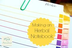 Episode #32: Making an Herbal Notebook {Podcast} - The Mind to Homestead