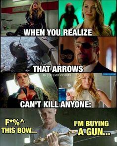 The Green Bullet Funny Marvel Memes, Marvel Jokes, Dc Memes, Avengers Memes, Cartoon Memes, Stupid Funny Memes, Funny Relatable Memes, Hilarious, Arrow Funny