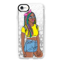 Rainbow Braids - iPhone 7 Case And Cover (145 RON) ❤ liked on Polyvore featuring accessories, tech accessories, iphone case, apple iphone case, iphone cases, iphone cover case, rainbow iphone case and clear iphone case