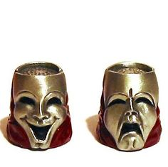 RP:  Comedy Tragedy Mask Pewter Thimble - etsy.com
