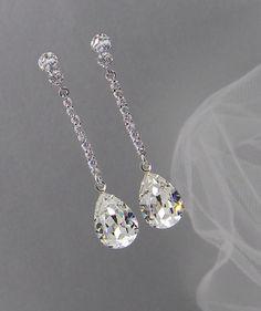 Crystal Bridal earrings Wedding jewelry Swarovski Crystal Wedding earrings Bridal jewelry, Sophia Bridal Earrings by CrystalAvenues on Etsy https://www.etsy.com/listing/154837661/crystal-bridal-earrings-wedding-jewelry