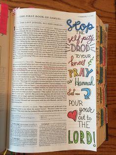 Samuel 1:10 bible journaling Faith Bible, Faith Prayer, Bible Study Journal, Art Journaling, Bible Art, Bible Verses, 2 Samuel, Bible Notes, Church Activities