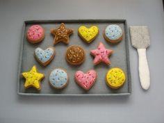 DIY Felt Bake Cookies Set - Felt Food PDF Patterns and Instructions via Email